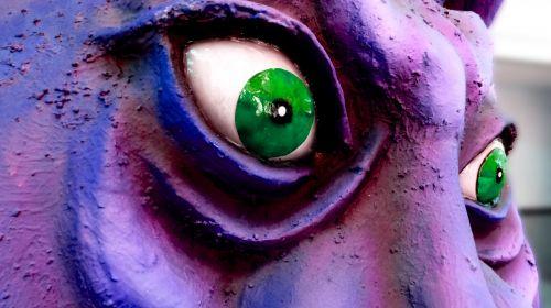 pavydas, žalias akimis, monstras, žalias, akys, Iš arti, izoliuotas, pavydus, žalia akimis monstras