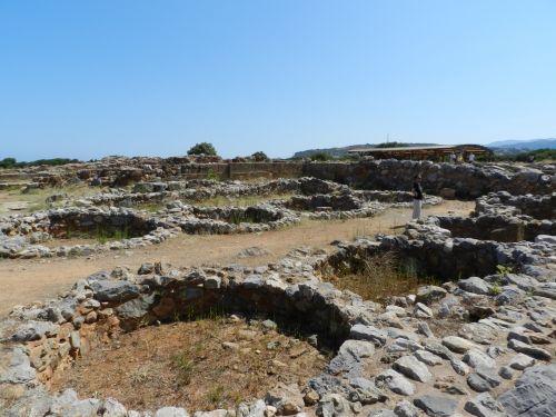 archeologiniai, svetainė, muziejus, lauke, lauke, smiltainiai, Turistai, Graikija 10