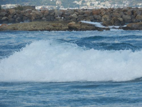 Graikija, heraklionas, vandenynas, papludimys, banga, bangos, atostogos, Graikija 20