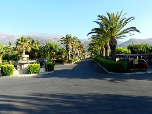 Graikija, heraklionas, įėjimas, viešbutis, atostogos, delnas, fontanas, Graikija 28