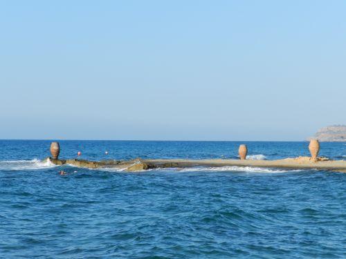 Graikija, heraklionas, vazos, skulptūra, sala, bangos, vanduo, papludimys, turizmas, Graikija 3