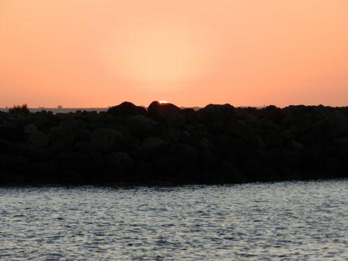 Graikija, heraklionas, saulėlydis, papludimys, atostogos, naktis, svajoti, svajonė, vasara, Graikija 8