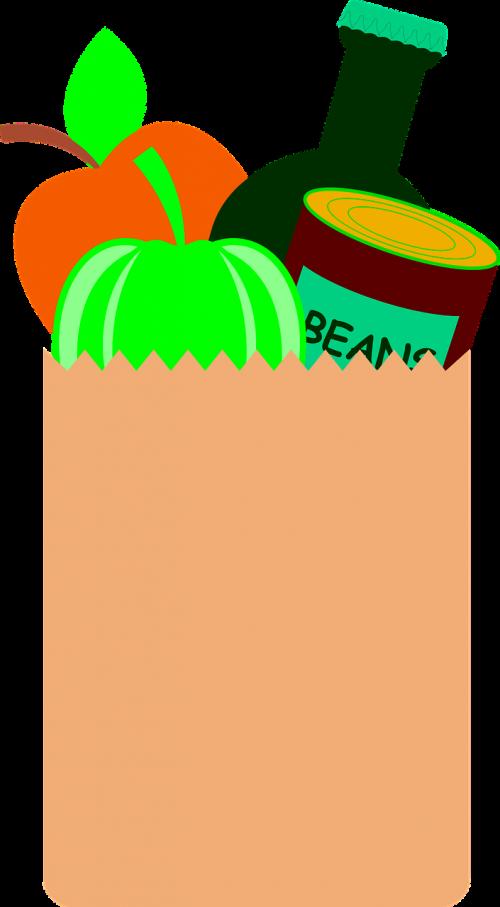 maisto pakuotė,bakalėja,alus,butelis,pipirai,obuolys,pagaminti,parduotuvė,apsipirkimas,maišas,rudas popierinis maišas,rudas popierius,maistas,prekybos centras,vaisiai,daržovės,pirkti,pirkti,klientas,valgymas,vartotojas,pupos,alavas,gali,nemokama vektorinė grafika