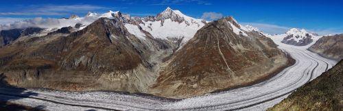 grosser aletsch ledynas,ledynas,valais,Šveicarija,Aletschhorn,pirmoji,eigeris,vienuolis,Alpių,Alpių panorama,puikus aletsch ledynas,vaizdas,kalnai,UNESCO pasaulio paveldas,panorama,panoraminiai vaizdai