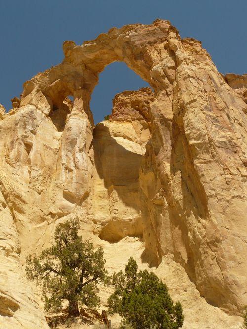 grosvenor arka,dideli laiptai escalante,Nacionalinis parkas,usa,Utah,smėlio akmuo,arka,natūrali arka,natūralus tiltas,erozija,lankytinos vietos,paminklas