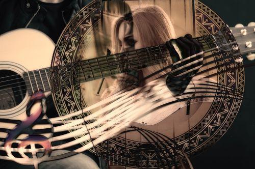 gitara,muzika,moteris,veidas,clef,liaudies muzika,instrumentas,muzikinis instrumentas,akustinė gitara