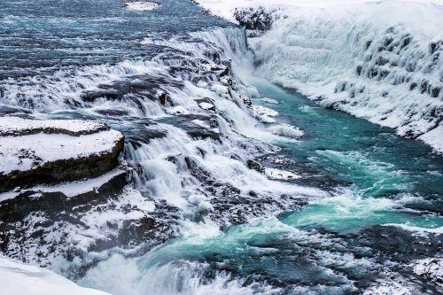 gullfoss,krioklys,iceland,iceland,kraštovaizdis,vanduo,galingas