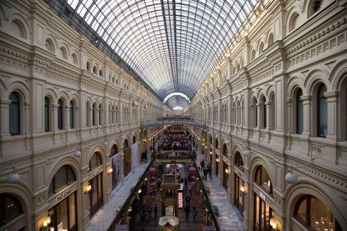 guma,moscow,Rusija,turizmas,bendroji parduotuvė,parduotuvė,paviljonas,universalinė parduotuvė,dekoruoti,architektūra,lankytinos vietos,istorija,rodyti vietą
