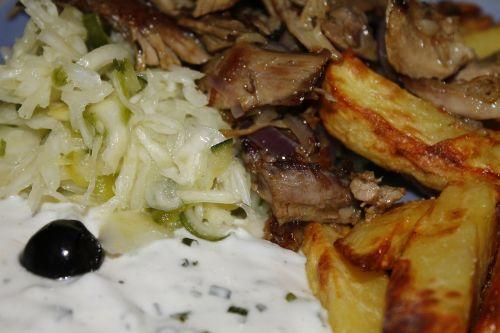 giroskopai,valgyti graikų,valgyti,tzatziki,alyvuogių,maistas,Prancūzų kalba,mėsa,virėjas