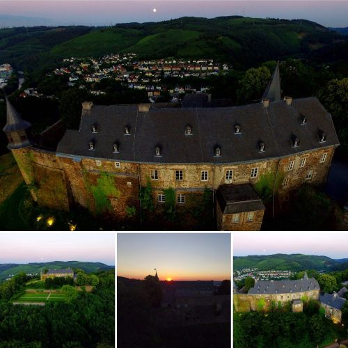 pilis,aukštas limburgas,Hagen,koliažas,drone,dji fantomas 3,luftaufnahme hagen