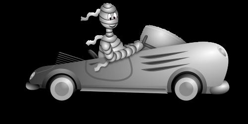 Halloween,automobilis,blanc,automobilis,vairuotojas,klasikinis,kabrioletas,vairuotojas,vampyras,mažai,monstras,mama,petit,lenktynės,retro,Sportas,balta,nemokama vektorinė grafika