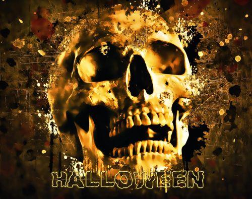 Halloween,kaukolė,Helovyno vakarėlis,siaubas,baugus,baisu,velnias,tamsi,gotika,galvos smegenys,Halloween kaukolė,Halloween party invitation,dizainas,skaitmeninis,tekstūra,rašalas,rašalo purslai,įbrėžimai,Halloween fonas,Spalio mėn
