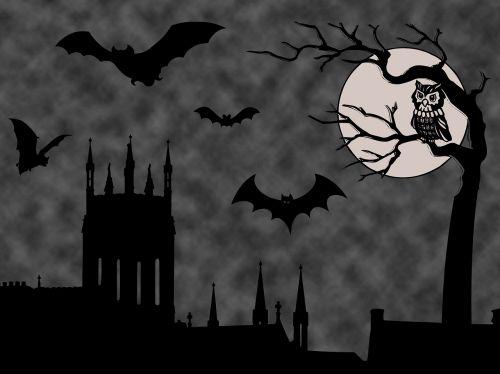 Halloween fonas,Halloween scenos,baisu,pilis,tamsi,apdaila,dusk,Halloween,šventė,siaubas,mėnulis,mėnulio šviesa,gyvūnas,juoda,ruduo,šventė,dizainas,vakaras,fantazija,skraidantis