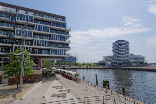 Hamburgas, Uosto Miestas, Architektūra, Miestas, Elbe, Pastatas, Vokietija, Hanzos Miestas, Promenada, Scena