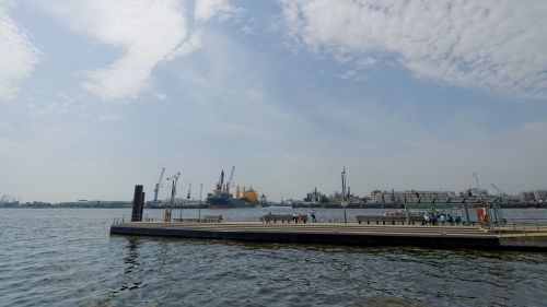 Hamburgas, Uosto Miestas, Uostas, Architektūra, Miestas, Elbe, Pastatas, Vokietija, Hanzos Miestas, Promenada, Scena