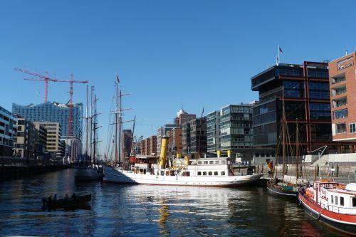 Hamburgas, Uostas, Laivai, Vokietija, Šiaurinė Vokietija