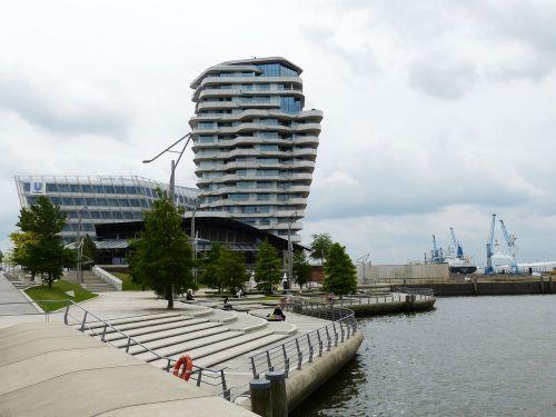 Hamburgas,  Hanzos Miestas,  Architektūra,  Uosto Miestas,  Miestas,  Pastatas,  Šiuolaikiška,  Terasa,  Palaipsniui,  Promenada,  Uostas