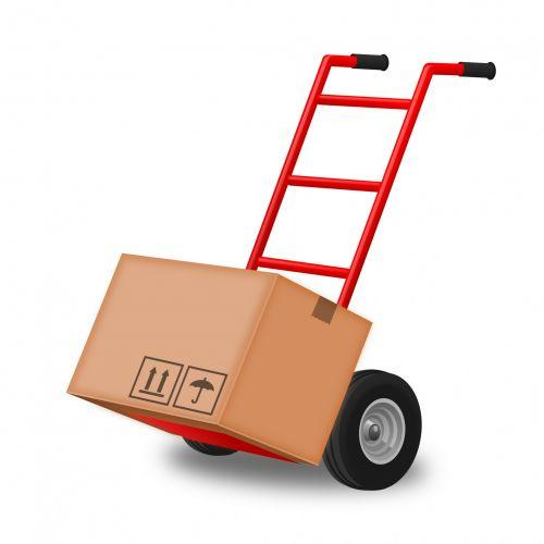 rankinis & nbsp, sunkvežimis, Rankinis sunkvežimis, dėžė, judėti, juda, rankinis krautuvas su vienu dėžute