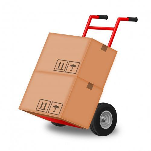 rankinis & nbsp, sunkvežimis, Rankinis sunkvežimis, dėžė, dėžės, judėti, juda, rankinis sunkvežimis su dviem dėžėmis