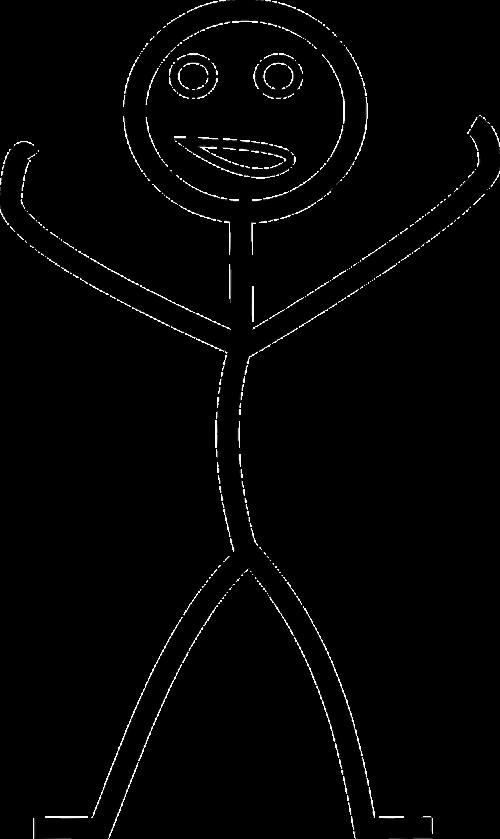 laimingas,vyras,Stick-man,matchstick žmogus,Stick figūra,Stickman,nemokama vektorinė grafika