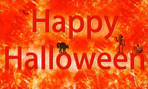 laimingas & nbsp, Halloween, tekstas, dažyti & nbsp, šepečius, tekstūra, katė, šikšnosparnis, moliūgas, skeletas, laimingas Halloween