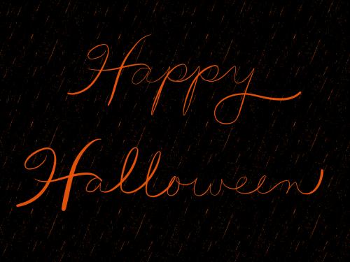 laimingas Halloween,Halloween fonas,juoda,oranžinė,scenarijus,rankos raidės,šventė,Spalio mėn,Halloween