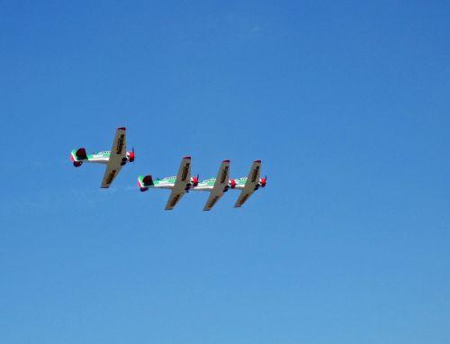 orlaivis, skraidantis, harvards, aerobatic, komanda, formavimas, oro šou, Harvardo komanda prieš dangų