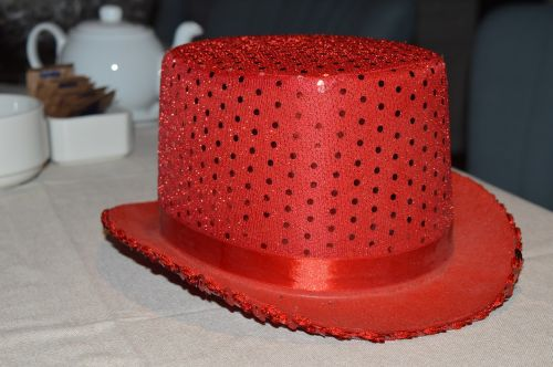 skrybėlę,raudona,šviesti