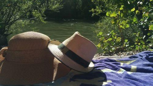 skrybėlę,upė,saulė,vanduo,vaizdingas,gamta,kraštovaizdis,vaizdingas