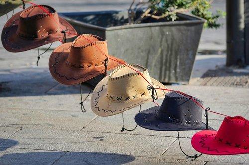 kepurės, kaubojus, kepurė, karinė, spalvos, uniforma, Vakarų stiliaus, Amerikos, vakarų ilgumos, kariai, amatų, Gunslinger, cowboyland, Vakarų, mada, parduotuvė, galvos apdangalai
