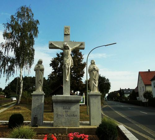 hausen,bavarija,kirsti,Jėzus,simbolis,krikščionybė,tikėjimas,bažnyčia,nukryžiavimas,Jėzus Kristus,religija,tikėk