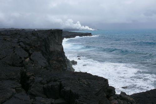 Hawaii,Nacionalinis parkas,vulkanas,gamta,lava,vandenynas,sala
