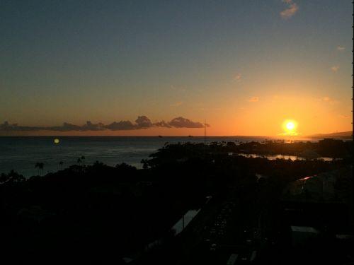 Hawaii,saulėlydis,paplūdimio vakaras,jūra,vandenynas,saulėlydžio dangaus,vakaras