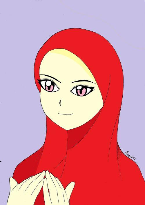galvos audinys,galvos ragana,galvos skara,mergaitė,moteris,Islamas,arabiškas,Komisija,manga,piešimas,Bandanna