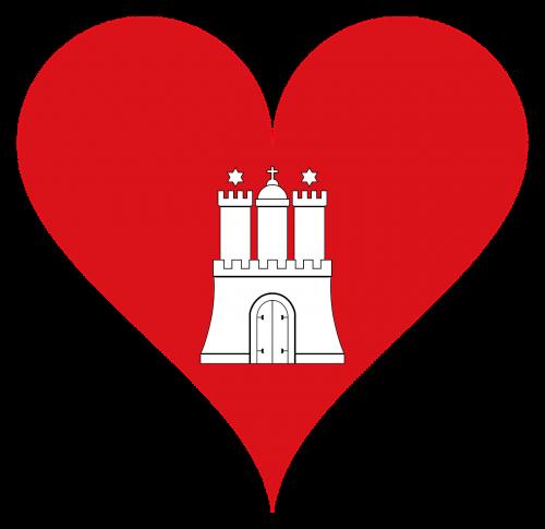 širdis,meilė,pilis,tikslas,hamburgas,herbas,vėliava,širdies formos,regionai