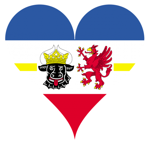 širdis,meilė,mecklenburg west pomerania,regionai,vėliava,herbas,širdies formos