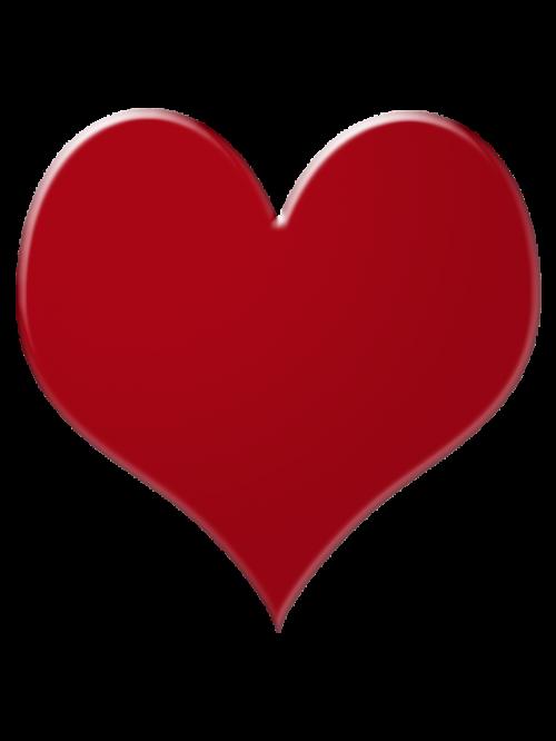 širdis, raudona, kaip, pokeris, spalva