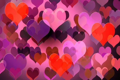 širdis, fonas, raudona, rožinis, violetinė, meilė, tapetai, valentine, Valentino diena, grafika, iliustracija, širdies fonas