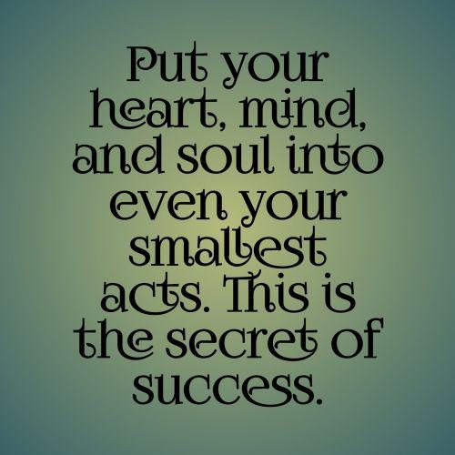 citata, širdis, protas, siela, žalias, tekstas, gradientas, fonas, veikti, paslaptis, sėkmė, širdies protas ir siela