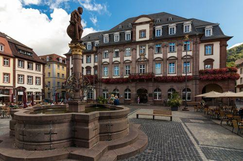 heidelbergas,prekyvietė,miesto rotušė,architektūra,Senamiestis,lankytinos vietos,viršutinė kvadratas,senoji miesto rotušė