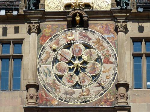 heilbronn,miestas,istoriškai,Senamiestis,miesto rotušė,laikrodis,laikas,astronominis,astronominis laikrodis,valandą,zodiako,horoskopas,laikas nurodant,žymeklis,laikrodžio veidas,Persiųsti