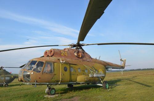 sraigtasparnis,mentės,senas,aerodromas,mi-8