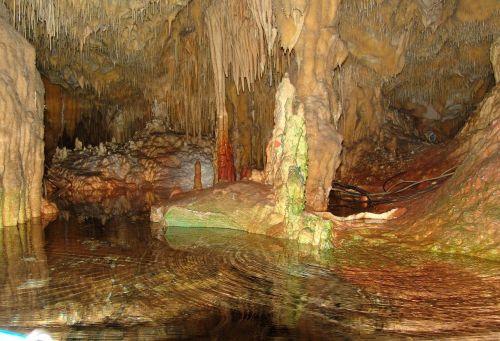 sveikas,dirou,grote,urvas,mistinis,stalaktito urvas,apšviestas,atspindys,stalaktitai,stalagmitai,Graikija