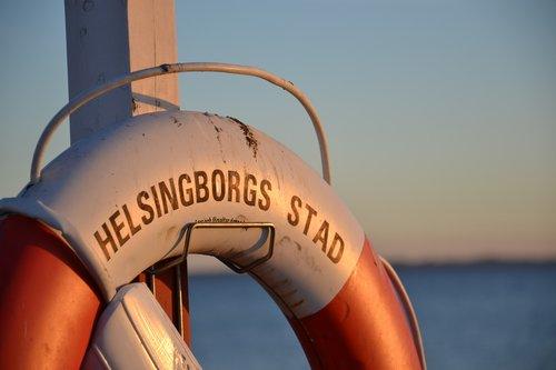 Helsingborgas, jūra, gelbėjimosi plūdė