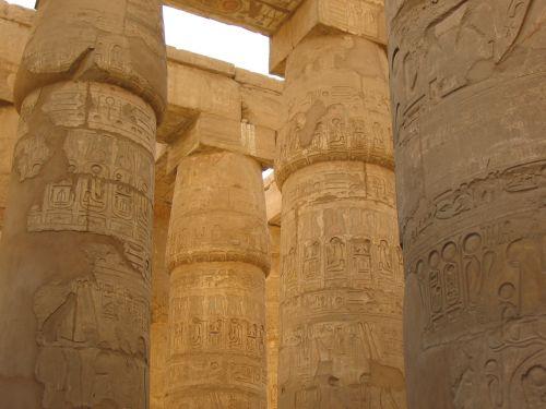 hieroglifai, Egiptas, paminklas, stulpelis, luxor, karnak & nbsp, šventykla, saulė, stulpelių hieroglifai - luxor