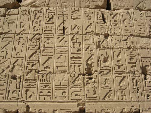 hieroglifai,Egiptas,luxor,užrašas