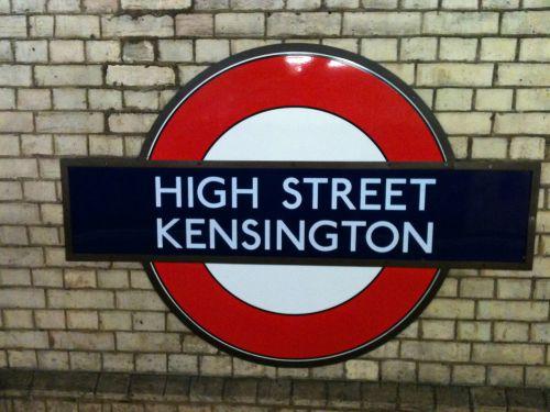 aukštas, gatvė, kensingtonas, Londonas, po žeme, vamzdis, metro, geležinkelis, lul, aukštai gatvėje Kensingtonas po žeme