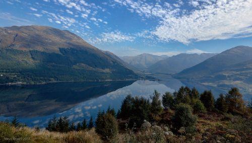 Highlands, Glenelg, Škotija, apmąstymai, Aukštuminiai apmąstymai