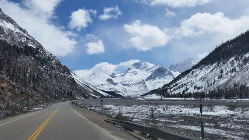 greitkelis,kalnai,vaizdingas,kraštovaizdis,kalnų kelias,ledynai,parkway