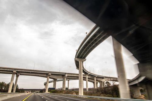 greitkelis, vaizdas, automatinis, automobilis, tiltas, pastatas, betonas, greitkelis, greitkelis, mainai, sankryža, tarpvalstybinis, juostos, kilpa, metro, didmiestis, perduoti, rampa, kelias, dangus, smogas, pietus, gatvė, sistema, greitkelis